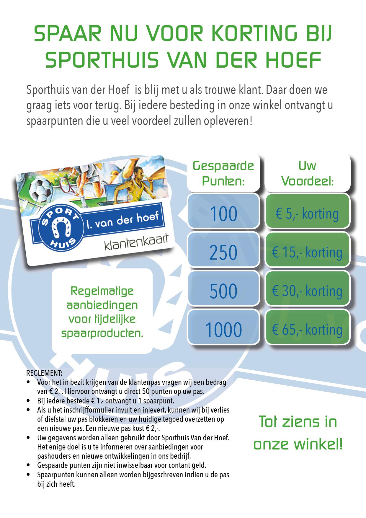 A4 Spaarplan Van der Hoef